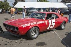 Chevrolet camaro race car stock image