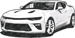 Chevrolet Camaro Sketch Art stock illustration