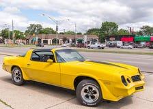 1979 Chevrolet Camaro, Woodward drömkryssning, MI Arkivbilder