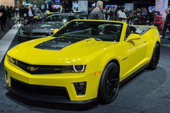 Chevrolet Camaro ZL1 Convertible car on display at the LA Auto S Stock Photos