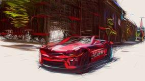 2013 Chevrolet Camaro ZL1 Convertible ID 7532 stock illustration