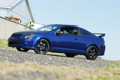 Chevrolet car. Picture of the blue chevrolet cobalt stock image