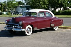Chevrolet Car. Picture of the 1952 Chevrolet in a parking lot royalty free stock photo