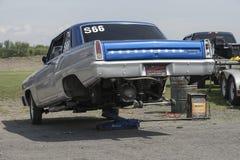 Chevrolet car in preparation Stock Photo