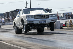 Chevrolet car wheelie Royalty Free Stock Photos