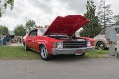 Chevrolet Chevelle en la exhibición Fotografía de archivo