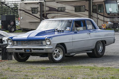 Chevrolet chevy. Napierville may 30-31, 2015 picture of chevrolet chevy drag car in display during festidrag event Royalty Free Stock Images