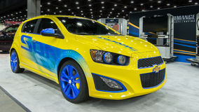 2014 Chevrolet (Chevy) Sonic Turbo Fotografie Stock Libere da Diritti