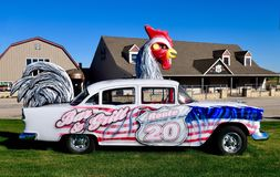 Chevrolet Chickenmobile image stock