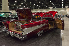 Chevrolet classic car custom. Los Angeles, USA - January 28, 2017: Chevrolet classic car custom on display during The Classic Auto Show at the Los Angeles Royalty Free Stock Images