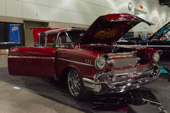 Chevrolet classic car custom. Los Angeles, USA - January 28, 2017: Chevrolet classic car custom on display during The Classic Auto Show at the Los Angeles Stock Photography