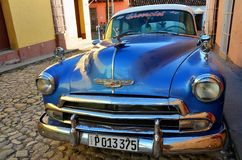 Chevrolet in colonial Trinidad, Cuba Royalty Free Stock Images