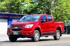 Chevrolet Colorado. Palenque, Mexico - May 22, 2017: Pickup truck Chevrolet Colorado in the town street Stock Photography