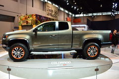 2015 Chevrolet Colorado ZR2 op dispay in Chicgago Auto toont Royalty-vrije Stock Foto's