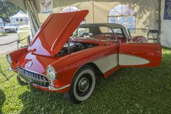 Chevrolet-Convertibel Korvet stock foto's
