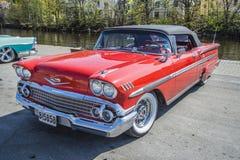 1958 Chevrolet-Convertibele Impala Royalty-vrije Stock Foto's