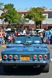 Chevrolet Corvair 700. Stylish blue Chevrolet Corvair model 700, presented at the 2012 Annual Antique Car Show in Maspeth, New York Stock Image