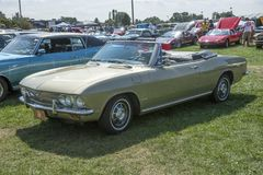 Chevrolet corvair convertible Royalty Free Stock Images