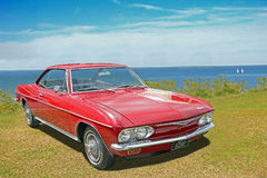 Chevrolet corvair vintage classic car. Photo of a vintage classic chevrolet corvair car on display at whitstable car show during summer of 2016 royalty free stock photos