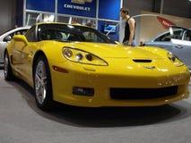 Chevrolet Corvette黄色z06 免版税图库摄影