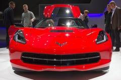 Chevrolet Corvette黄貂鱼 库存图片