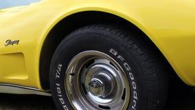 1970年Chevrolet Corvette黄貂鱼 免版税库存照片