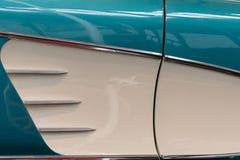 Chevrolet Corvette 1958 side panel detail Stock Image