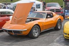 Chevrolet Corvette anaranjado imágenes de archivo libres de regalías