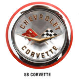 Chevrolet Corvette Classic Hood Badge- 1958 Royalty Free Stock Photo