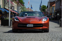 2015 Chevrolet Corvette Coupe. BORGHOLM, SWEDEN - JUNE 13, 2015: Chevrolet Corvette parade at the Club Corvette Sweden summer meeting 2015 in the town of Royalty Free Stock Photo