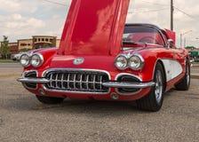 1959 Chevrolet Corvette, croisière de rêve de Woodward, MI Images libres de droits