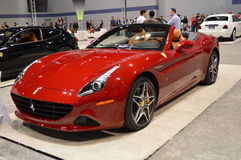 The 2015 Chevrolet Corvette on dispay at the Chicgago Auto Show Royalty Free Stock Photography