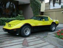 Chevrolet Corvette Sportauto in San Isidro, Lima stockbild