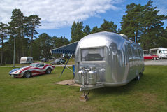 Chevrolet corvette stingray & airstream Stock Photos