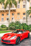 Chevrolet Corvette Stingray parked in front of Biltmore Hotel Stock Photo