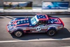 Chevrolet Corvette tävlings- bil Royaltyfri Bild