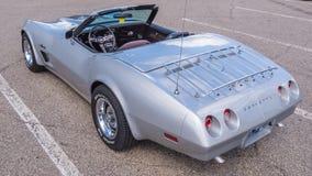 1973 Chevrolet Corvette, travesía del sueño de Woodward, MI Imagen de archivo libre de regalías