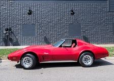 1974 Chevrolet Corvette, travesía del sueño de Woodward, MI Imagen de archivo