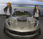 2015 Chevrolet Corvette Z06 Car at the 2014 New York International Auto Show Royalty Free Stock Photo