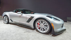 2015 Chevrolet Corvette Z06. CHICAGO, IL/USA - FEBRUARY 13, 2015: 2015 Chevrolet Corvette Z06 car at the Chicago Auto Show (CAS), the largest auto show in North Stock Image
