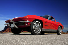 1963 Chevrolet Corvette. Z06 split window coupe. Factory correct color combination. 1 of only 199 produced in 1963 Royalty Free Stock Image