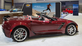 Chevrolet Corvette Z06. WASHINGTON, DC - JANUARY 21, 2016: Chevrolet Corvette Z06 car at the Washington, D.C. Auto Show (WAS), one of the largest auto shows in Stock Photo