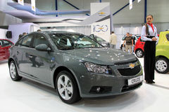 Chevrolet Cruse. KIEV - MAY 26: Chevrolet Cruse at yearly automotive-show SIA 2011. May 26, 2011 in Kiev, Ukraine Stock Images