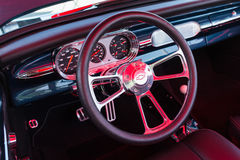 Chevrolet dashboard on detail Stock Image