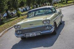 1958 Chevrolet-de Coupé van de Impalahardtop, voor verkoop Stock Foto's