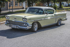 1958 Chevrolet-de Coupé van de Impalahardtop, voor verkoop Royalty-vrije Stock Fotografie