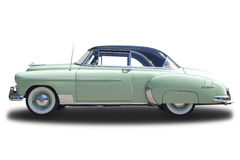 Chevrolet Deluxe 1950. Isolated on white Royalty Free Stock Photography