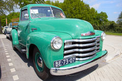1950 Chevrolet 3100. DEN BOSCH, THE NETHERLANDS - MAY 10, 2015: 1950 Chevrolet 3100 on the parking lot at the Rock Around The Jukebox event royalty free stock images
