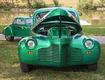 Chevrolet en Baby Chevy in Frankenmuth in Autofest Royalty-vrije Stock Foto's