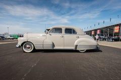 1948 Chevrolet Fleetliner- Pomona Car Show 2016. Pomona, USA - June 5, 2016: 1948 Chevrolet Fleetline Sedan on display is one of more than 1,000 vintage vehicles Stock Photography